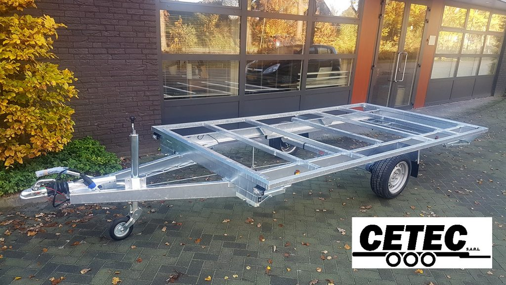 CETEC France Chassis Tiny House 3.95M - 1 Essieu (av)