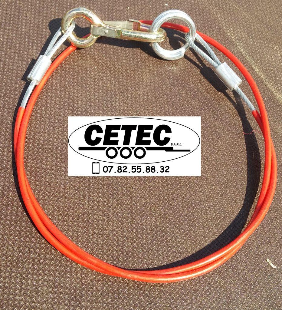 CETEC France Option N°14 - Cable de sécurité