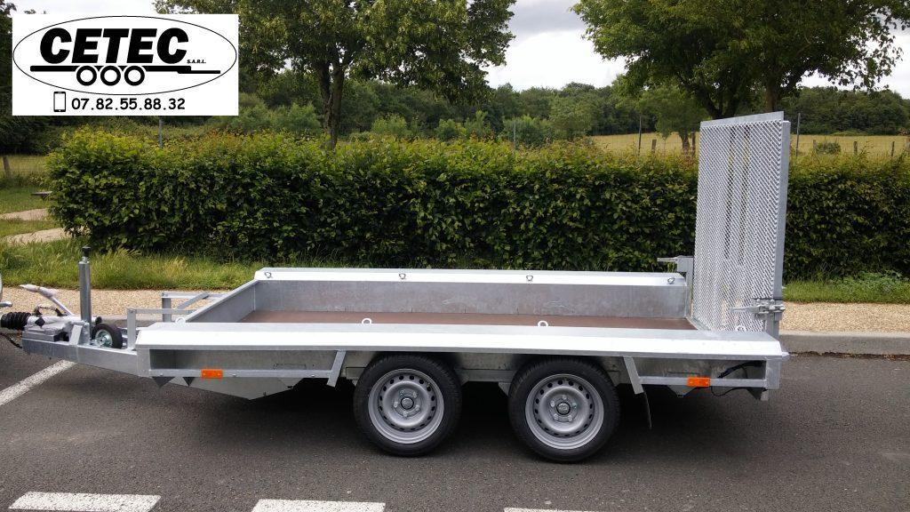 CETEC France - Porte Engins 3x1.5M (lat) 2 essieux de 1350 ou 1800 KG au choix