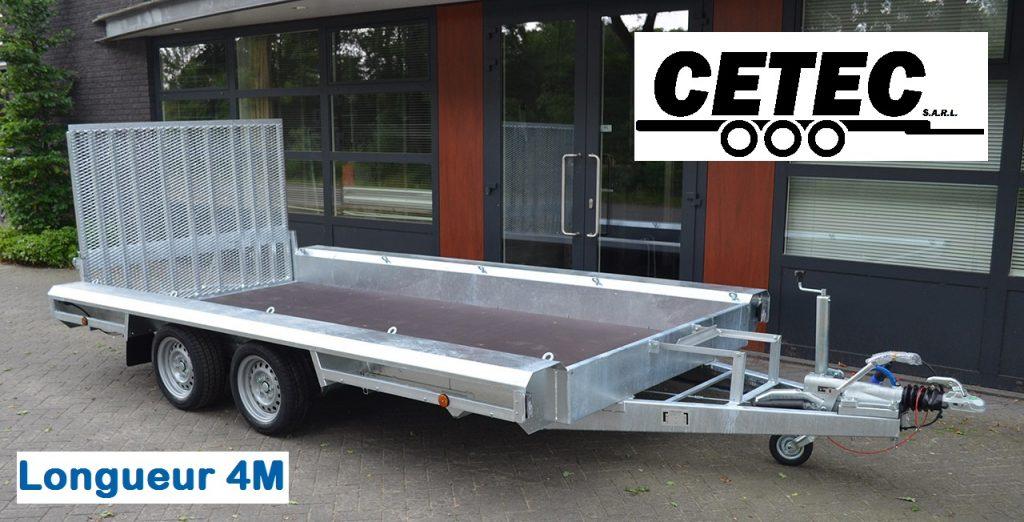 CETEC France Porte Engins 4x1.8M - 2 Essieux (av)