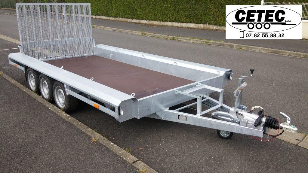 CETEC France Porte Engins 4x1.8M - 3 Essieux (av)
