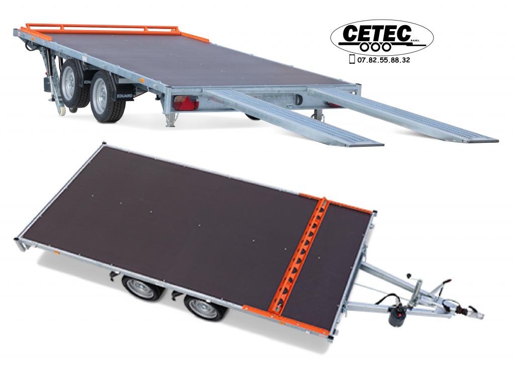 CETEC-France-plateau inclinable hydraulique à pompe manuelle ou electrique avec telecommande filaire 4M x 2M 2.à 3.5T avec ou sans rampes possibilité de rambarde eduard 4020-4-AOV-300-J-63