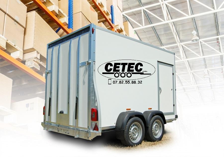 CETEC France - Fourgon Bois 2 essieux AL-KO panneau plywood