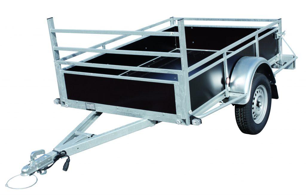 CETEC France - Remorque BW Bois 2.00 x 1.30 M à 1 essieu de 750KG, porte arrière basculante et porte échelle de serie