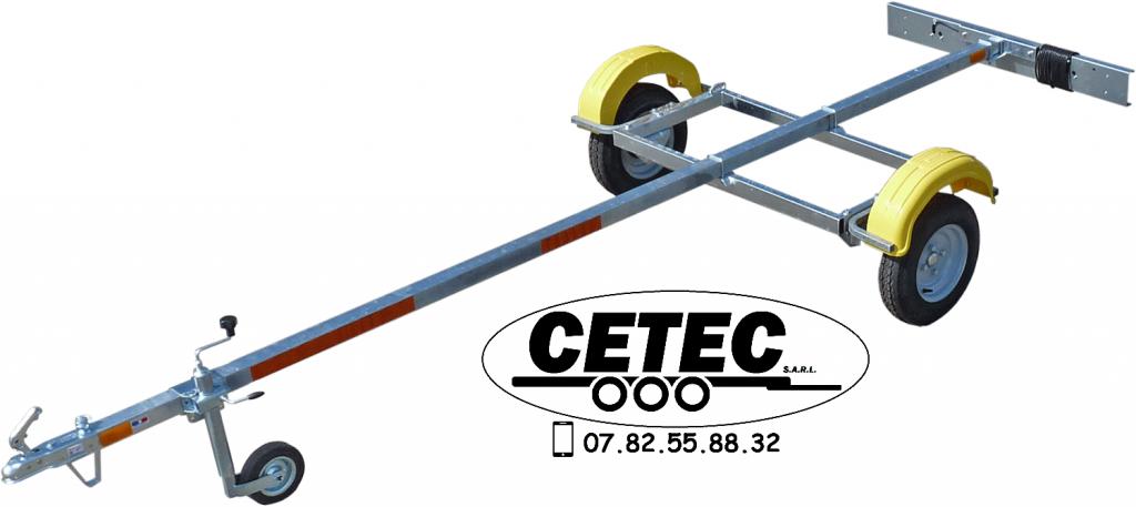 CETEC France - Remorque Nue 400KG